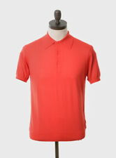 Art Gallery Clothing - Knitted Polo - CORAL M Mod Sixties
