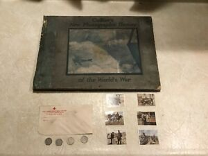 WW1 Book 1919 Colliers Photo History RED CROSS Letter 6 Cigarette card coin 1914
