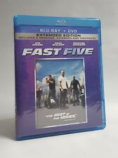 Fast Five Rated Unrated Extended Edition Blu-ray DVD Digital HD Vin Diesel 2011