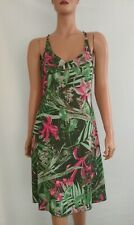 O/'Neill Kleid Sommerkleid Gr.M Prime weiß grün Spaghetti-Träger Blumen