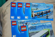 Genuine Lego City Public Transport Instruction Manuals 8404 No Brick Some Wear