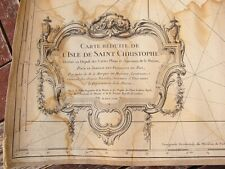 GRANDE CARTE GEOGRAPHIQUE MARQUIS MASSIAC ISLE St CHRISTOPHE BELLIN 1763 ATLAS