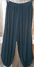 ART TO WEAR HAREM (10) PANT IN CLASSIC SOLID BLACK BY MISSION CANYON,OS+,NWT!,