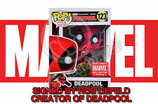 Marvel Collectors Corps Deadpool 123 Funko POP! Figure - SIGNED BY ROB LIEFELD!