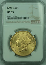 1904 Liberty $20 Double Eagle Gold Coin NGC MS-63 (C)