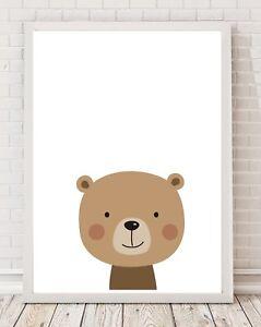 Bear Nursery Bedroom Playroom A4 Print Poster PO103