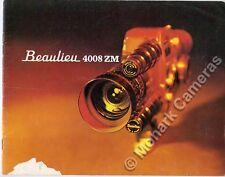 Beaulieu 4008 zm CINE caméra brochure, plus 8mm catalogues & guides énumérés