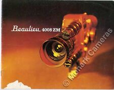 Beaulieu 4008 ZM Cine Camera Brochure, More 8mm Catalogues & Guide Books Listed