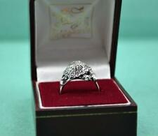 More details for vintage sterling silver tortoise design ring foreign hallmark as found in box