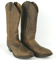 Justin Boots #2253 Buck Bay Apache Men's Western Boot Brown Leather Size 7 1/2