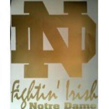 Notre Dame ND GOLD DECALS - 2 CORNHOLE DECALS  Vinyl Decals window decals