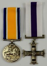 Pair of Full Size Replica WW1 Service Medals. Gallantry Cross, Imperial Forces