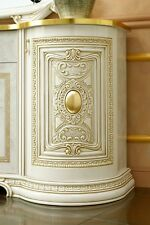 Exklusive Anrichte Sideboard 2-türig Schubladen Beige Gold Stilmöbel Italien