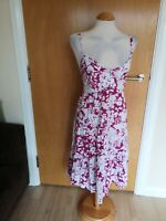 Ladies TU Dress Size 16 Pink White Smart Casual Day Party Summer Holiday Smart