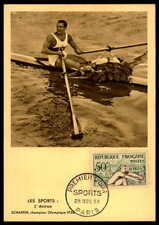 FRANCE MK 1953 SPORT SPORTS RUDERN PADDLE MAXIMUMKARTE MAXIMUM CARD MC CM df20