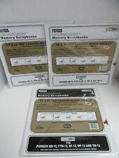3 Juegos Pioneer Scrapbook Recarga Páginas Blanco y Negro RMB5 RMW5 Total 15