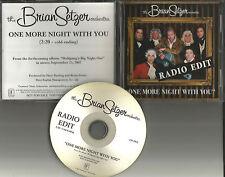 Stray Cats BRIAN SETZER One More Night TST PRESS PROMO DJ CD Single with you