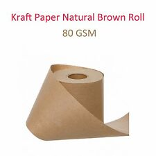 Kraft Brown Natural Paper Roll Packaging Packing Craft Wrapping 80GSM 9 cm x 60M