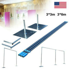 3x3m/3x6m Telescopic Heavy Duty Pipe and Drape Kit Wedding Backdrop Stand SALE