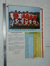 CLIPPING POSTER FOOTBALL 1979-1980 US VALENCIENNES ANZIN USVA STADE NUNGESSER