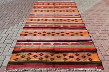 "Turkish Kilim Rug Livingroom Carpet Tribal Rug Dining Room 63,3""x111,4"" Area Rug"