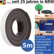 Magnetband Magnetfolie Magnetstreifen Magnet Band Streifen Folie Stark 5m