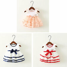 Baby Girl Clothes Sleeveless Summer Pageant Tutu Princess Party Dress Bebe Bow