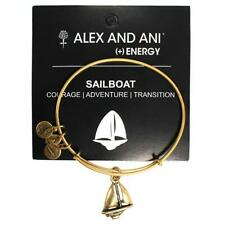 Alex and Ani Sailboat Charm Bangle Rafaelian Gold Finish A09EB170RG