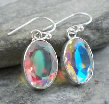 925 Silver MERCURY MYSTIC TOPAZ Earrings E495~Silverwave*uk Jewellery
