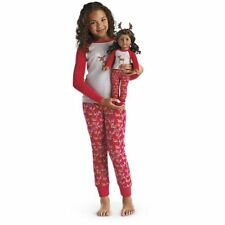 💕American Girl Matching Girl & Doll Festive Reindeer Pyjamas Medium NEW only1💕