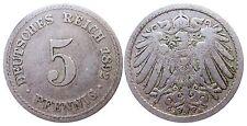 J 12   5 Pfennig KAISERREICH 1892 A in SS  502916