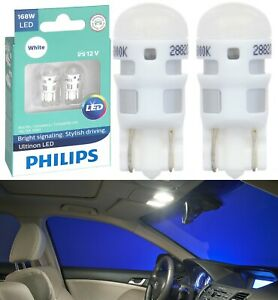 Philips Ultinon LED Light 168 White 6000K Two Bulbs Interior Dome Replace Stock