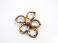 Vtg Napier Sterling Silver Rose Gold Vermeil Flower Dress Clip Brooch Pin, 12.3g
