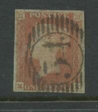 Penny Red Imperf Plate 75.Mk.4 Margins Used.Full London Suburban Oval 54