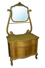 Antique Dresser, Bird Eye Maple with Over Mirror #1376