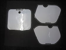 Number Backgrounds Honda CR 125 250 500 1985-1986 WHITE CR125 CR250 CR500 Decals