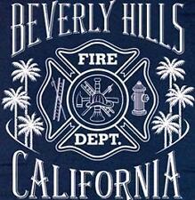 Beverly Hills Fire Department Firefighter T-shirt  XL