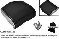 WHITE & BLACK 08-12 CUSTOM FITS YAMAHA 600 YZF R6 REAR SEAT COWL PAD COVER