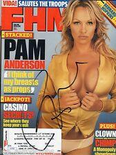Pamela Pam Anderson hand SIGNED Sexy FHM Full Magazine JSA COA
