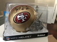 49ers Jerry Rice Authentic Signed Mini Helmet Autographed BAS