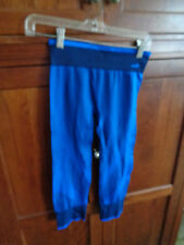 Women's AVIA Small Blue Fitted Capri Running Fitness Tights NWOT Stripe Trim