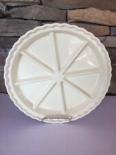 "Chantal Bakeware 8 Section Stoneware Scone Pie Dish 11"" Custard Yellow"
