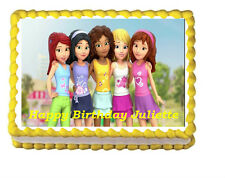 Lego Friends Birthday Party Icing Edible Cake Topper 1/4 sheet