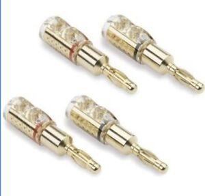 QED Qunex Screwloc 4mm Banana Plugs (2 Pairs)