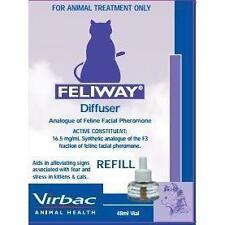 Feliway Analogue of Feline Facial Pheromone Liquid Refill 48mls