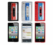 3-pack Silicone Skin Case for iPhone 4 / 4S - Red, Gray, Black