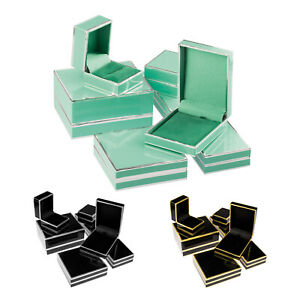 Two Tone Metallic Trim Card Jewellery Gift Boxes and Packaging with Soft Inserts