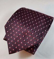 JOSEPH AND FEISS 100% Silk Men's Tie NWOT Burgundy Red