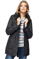 4f661c8adae Maine New England - Black faux fur collar coat