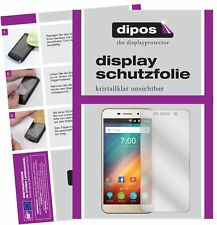 2x ZTE Blade A602 Schutzfolie klar Displayschutzfolie Folie Display Schutz dipos